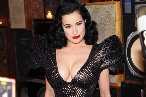 dita von teese 3d printed dress 5